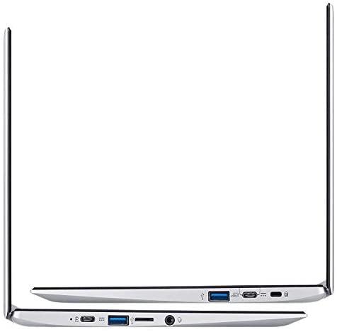 "Acer Chromebook 311 11.6"" Laptop Computer, Intel Celeron N4020 up to 2.8GHz, 4GB LPDDR4 RAM, 32GB eMMC, 802.11AC WiFi, Bluetooth 4.1, Webcam, Remote Work, Pure Silver, Chrome OS, iPuzzle Type-C HUB 7"