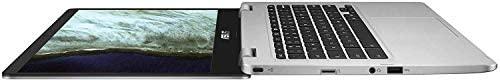 "Asus C423NA Chromebook 14"" HD Laptop (Intel Dual Core Celeron Processor N3350, 4GB DDR4 RAM, 64GB SSD) Webcam, WiFi, Bluetooth, Type-C, Google Chrome OS - Silver (Renewed) 3"