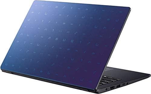 "ASUS E410 14.0"" HD (1366x768) LED Anti-Glare Laptop, Intel Celeron N4020, 4GB DDR4, 128GB eMMC, WiFi, HDMI, NumberPad, Media Card Reader, USB Type-C, Windows 10 S, Blue, 64GB ABYS MicroSD Card 6"