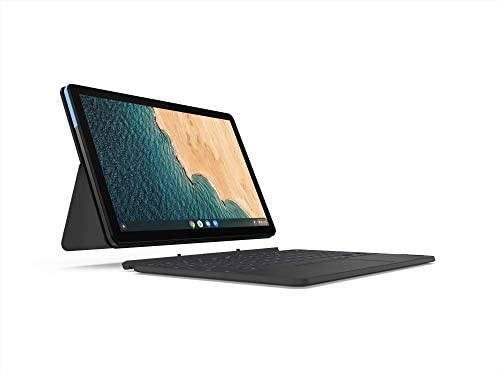 Lenovo Chromebook Duet 2-in-1 10.1 WUXGA (1920 x 1200) Show, MediaTek Helio P60T, 4GB LPDDR4X RAM, 64GB SSD, Built-in ARM G72 MP3 Graphics, Chrome OS, ZA6F0031US, Ice Blue+Iron Gray (Renewed) 3