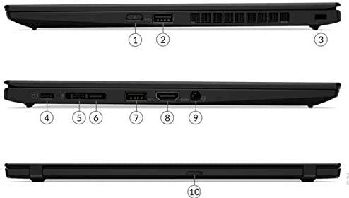 "Latest_Lenovo ThinkPad X1 Carbon Gen 7 14"" FHD IPS Anti-Glare 400 nits Display, 10th Generation Intel Core i5-10210U Processor, 8GB RAM, 256GB SSD, Fingerprint Reader, Backlit Keyboard, Window 10 Pro 9"