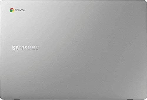 "Samsung Chromebook 15.6"" FHD Laptop, FHD 1080P Display, Intel Celeron N4000, 4GB RAM, 32GB eMMC, Google Class Room Ready , Chrome OS, Platinum Titan, with TSBEAU USB Hub & 256GB Micro SD Card 5"