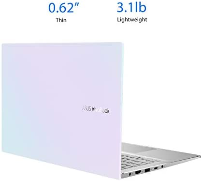 """ASUS VivoBook S14 S433 Thin and Light Laptop, 14"""" FHD Display, Intel Core i5-1135G7 CPU, 8GB DDR4 RAM, 512GB PCIe SSD, Thunderbolt 3, Wi-Fi 6, Windows 10 Home, Dreamy White, S433EA-DH51-WH 4"""