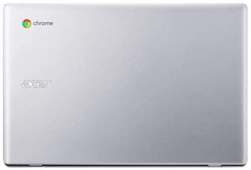"Acer Chromebook 311 11.6"" Laptop Computer, Intel Celeron N4020 up to 2.8GHz, 4GB LPDDR4 RAM, 32GB eMMC, 802.11AC WiFi, Bluetooth 4.1, Webcam, Remote Work, Pure Silver, Chrome OS, iPuzzle Type-C HUB 6"