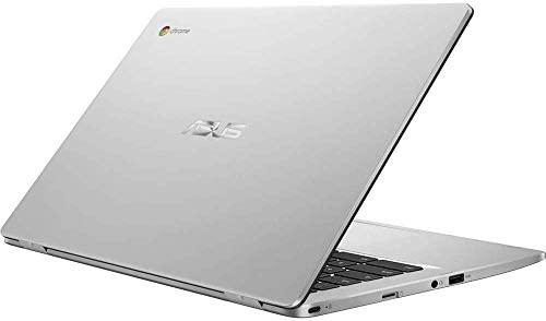 "Asus C423NA Chromebook 14"" HD Laptop (Intel Dual Core Celeron Processor N3350, 4GB DDR4 RAM, 64GB SSD) Webcam, WiFi, Bluetooth, Type-C, Google Chrome OS - Silver (Renewed) 6"