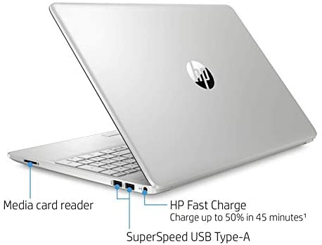 "2021 HP Flagship 15.6"" HD Laptop Computer, AMD Ryzen 3 3250U up to 3.5GHz (Beat Intel i5-7200U), 8GB RAM, 128GB SSD+1TB HDD, HD Webcam, Remote Work,WiFi, Bluetooth 4.2, HDMI, Win10 S, w/Marxsol Cables 5"