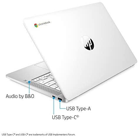 HP Chromebook 14-inch HD Laptop, Intel Celeron N4000, 4 GB RAM, 32 GB eMMC, Chrome (14a-na0020nr, Ceramic White) 3