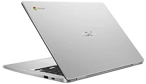 "Asus Chromebook C423NA, 14"" HD Nano-Edge Display, Intel Processor N3350, 4GB DDR4, 64GB eMMC, Chrome OS 6"