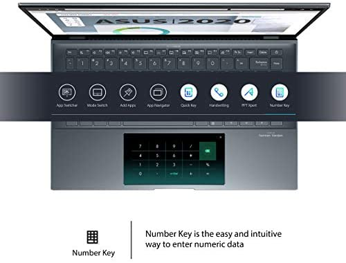 "ASUS ZenBook 14 Ultra-Slim Laptop 14"" FHD NanoEdge Bezel Display, Intel Core i7-1165G7, NVIDIA MX450, 16GB RAM, 512GB SSD, ScreenPad 2.0, Thunderbolt 4, Windows 10 Pro, Pine Grey, UX435EG-XH74 9"