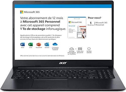 """Latest Acer Aspire 1 15.6"""" FHD laptop computer enterprise and pupil, Intel Celeron N4020(As much as 2.8 GHz), 4GB RAM, 64GB eMMC, As much as 10-Hours Battery Life, Microsoft 365 Private, Win10 w/Ghost Manta Equipment 8"""