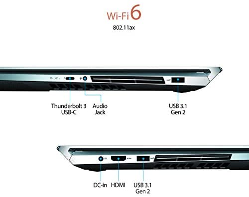 "ASUS ZenBook Pro Duo UX581 Laptop, 15.6"" 4K UHD NanoEdge Touch Display, Intel Core i7-10750H, 16GB RAM, 1TB PCIe SSD, GeForce RTX 2060, ScreenPad Plus, Windows 10 Pro, Celestial Blue, UX581LV-XS74T 9"