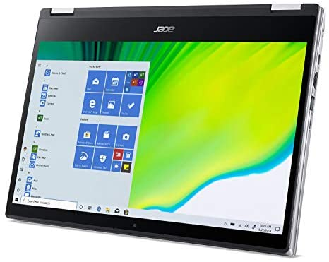 """Acer Spin 3 Convertible Laptop, 14"""" Full HD IPS Touch, 10th Gen Intel Core i5-1035G4, 8GB LPDDR4, 512GB NVMe SSD, WiFi 6, Backlit KB, Fingerprint Reader, Rechargeable Active Stylus, SP314-54N-50W3 13"""