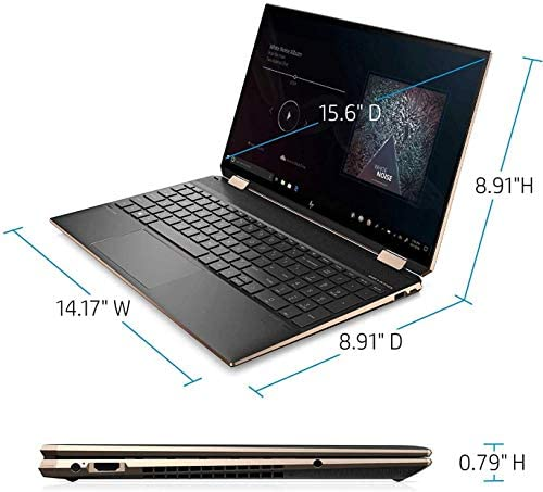 """HP Spectre x360 2-in-1 Touchscreen Laptop computer, 4K UHD 15.6"""", Core i7-10510U, GeForce MX330 2GB Graphics, 16GB RAM, Backlit, Thunderbolt 3, 1TB NVMe PCIe SSD, Mytrix Wi-fi Mouse, Win 10 (Renewed) 8"""