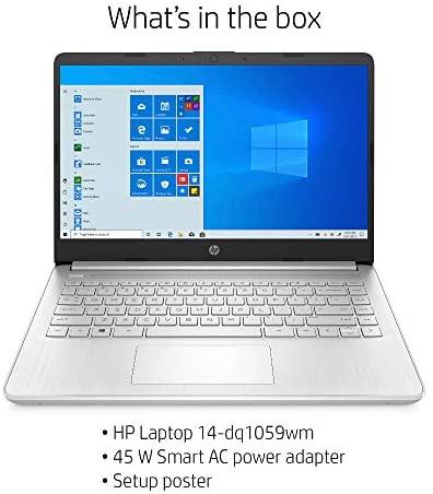 "Latest HP 14"" HD Laptop computer, Intel Core i5-1035G1, Intel UHD Graphics, 8GB SDRAM, 256GB SSD, Pure Silver, Home windows 10 6"