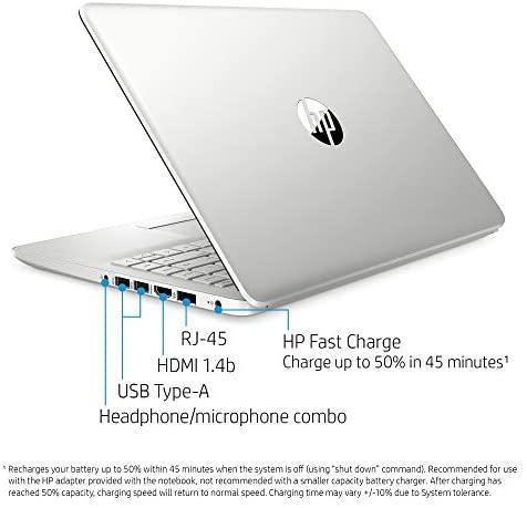 """2021 HP 14"""" HD Laptop Computer, 3rd Gen AMD Ryzen 3-3300U (Beat i3-7100U), 4GB DDR4, 1TB HDD, AMD Radeon Graphics, Webcam, USB-C, HDMI, Ethernet, Bluetooth, Windows 10 S, Sliver W/ TiTac 32GB Card 5"""