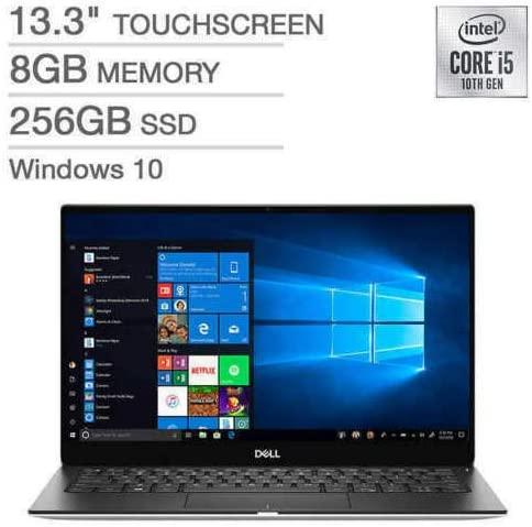 "2021 Dell XPS 13 7390 13.3"" Full HD InfinityEdge Touchscreen Thin and Light Laptop, Intel Core i5-10210U Processor, 8GB RAM, 256GB SSD, Backlit Keyboard, Windows 10, Silver, W/ IFT Accessories 2"