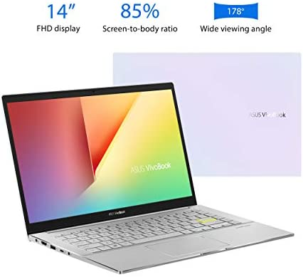"""ASUS VivoBook S14 S433 Thin and Light Laptop, 14"""" FHD Display, Intel Core i5-1135G7 CPU, 8GB DDR4 RAM, 512GB PCIe SSD, Thunderbolt 3, Wi-Fi 6, Windows 10 Home, Dreamy White, S433EA-DH51-WH 3"""