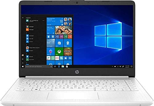 2021 Newest HP Stream 14-inch HD Laptop, White, Intel N4020 up to 2.8 G, 4G RAM, 128G Space(64G eMMC+64G Micro SD), WiFi, Webcam, Bluetooth, Windows 10 S, Office 365 Personal for 1 Year, Allyflex MP 2