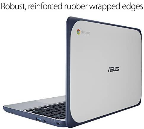 "ASUS Chromebook-Laptop- 11.6"" Ruggedized and Spill Resistant Design-with 180 Degree-Hinge, Intel N3060 Celeron 4GB DDR3, 32GB eMMC, Chrome OS- C202SA-YS04 Dark Blue 7"