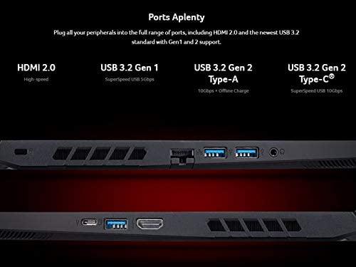 "Acer Nitro 5 Gaming Laptop, 10th Gen Intel Core i5-10300H,NVIDIA GeForce GTX 1650 Ti, 15.6"" Full HD IPS 144Hz Display, 8GB DDR4,256GB NVMe SSD,WiFi 6, DTS X Ultra,Backlit Keyboard,AN515-55-59KS 4"