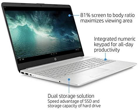 "2021 HP Flagship 15.6"" HD Laptop Computer, AMD Ryzen 3 3250U up to 3.5GHz (Beat Intel i5-7200U), 8GB RAM, 128GB SSD+1TB HDD, HD Webcam, Remote Work,WiFi, Bluetooth 4.2, HDMI, Win10 S, w/Marxsol Cables 4"