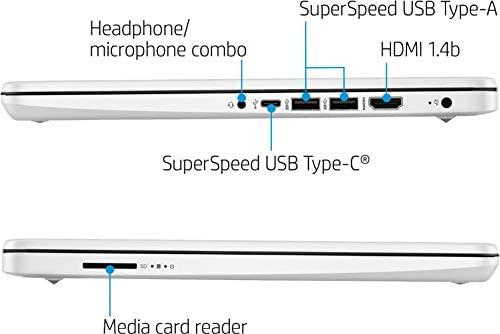"2021 HP 14"" HD Slim and Light Laptop, Intel Celeron N4020 Processor, 4GB RAM, 64GB eMMC, Webcam, HDMI, Windows 10 S, 1 Year Microsoft 365 /IFT Accessories (Google Classroom or Zoom Compatible) White 5"