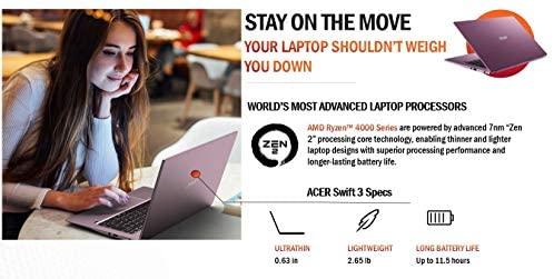 "Acer Swift 3 Thin & Light Laptop, 14"" Full HD IPS, AMD Ryzen 7 4700U Octa-Core Processor with Radeon Graphics, 16GB LPDDR4X, 512GB NVMe SSD, WiFi 6, Backlit KB, Fingerprint Reader, SF314-42-R3U5 4"