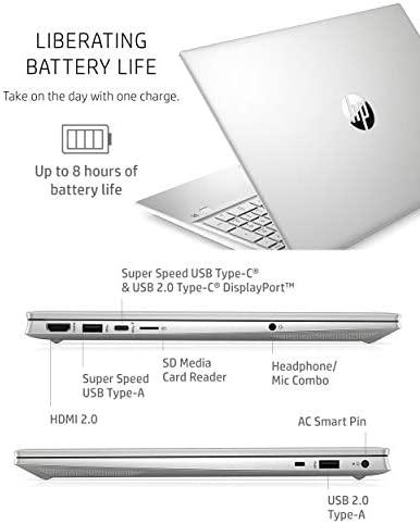 HP Pavilion 15 Laptop, 11th Gen Intel Core i7-1165G7 Processor, 16 GB RAM, 512 GB SSD Storage, Full HD IPS Micro-Edge Display, Windows 10 Pro, Compact Design, Long Battery Life (15-eg0021nr, 2020) 6