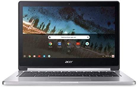 Acer R13 13.3in Convertible 2-in-1 FHD IPS Touchscreen Chromebook - Intel Quad-Core MediaTek MT8173C 2.1GHz, 4GB RAM, 64GB SSD, Bluetooth, HDMI, Chrome OS (Renewed) 2