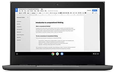"Lenovo 100E Chromebook 2ND Gen Laptop, 11.6"" HD (1366 X 768) Display, MediaTek MT8173C Processor, 4GB LPDDR3 RAM, 16GB eMMC TLC SSD, Powervr GX6250, Chrome OS, 81QB000AUS, Black 3"