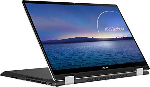 """2021 ASUS Zenbook Flip 15.6"""" FHD (1920x1080) Touch 2-in-1 Business Laptop (Intel 11th Gen 4-Core i7-1165G7, 16GB RAM, 1TB SSD, GTX1650 MaxQ 4GB) Backlit, 2xThunderbolt 4, Windows 10 + IST HDMI Cable 2"""