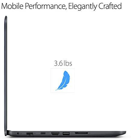 """ASUS L402WA-EH21 Thin and Light 14"""" HD Laptop; AMD E2-6110 Quad Core 1.5GHz Processor,AMD Radeon R2 Graphics,4GB RAM,32GB eMMC Flash Storage,Windows 10 S with FREE 1yr Office 365 Subscription Included 2"""