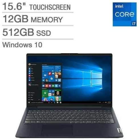"Lenovo IdeaPad 5 15.6"" FHD IPS Touchscreen Laptop | 11th Gen Intel Core i7-1165G7 | 12GB RAM | 512GB SSD | Backlit Keyboard | Fingerprint Reader | Windows 10 4"