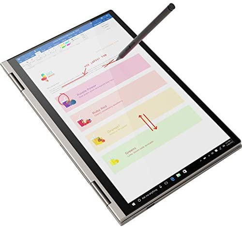 "2021 Newest Lenovo Yoga 2-in-1 Convertible Laptop, 14"" FHD Touch Screen, Intel Core i5-10210U Processor, 8GB RAM, 1TB SSD, Backlit Keyboard, Fingerprint Reader, USB-C, Mica, Win 10 + Oydisen Cloth 2"