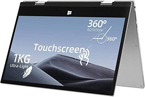 Jumper 11.6 inch Full HD Touchscreen Laptop 6GB RAM, 128GB eMMC 360 Degree Convertible Tablet PC Windows 10 Ultrabook PC Intel Celeron Quad Core Processor (Navy Blue) 2