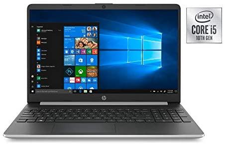 Newest HP 15.6inch Lightweight Laptop, Intel Quad-Core i5-1035G1 Processor Up to 3.60 GHz, 8GB DDR4 RAM, 256GB SSD + 16GB Optane, HDMI, Bluetooth, Win 10-Silver (Renewed) 4