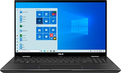 """2021 ASUS Zenbook Flip 15.6"""" FHD (1920x1080) Touch 2-in-1 Business Laptop (Intel 11th Gen 4-Core i7-1165G7, 16GB RAM, 1TB SSD, GTX1650 MaxQ 4GB) Backlit, 2xThunderbolt 4, Windows 10 + IST HDMI Cable 5"""