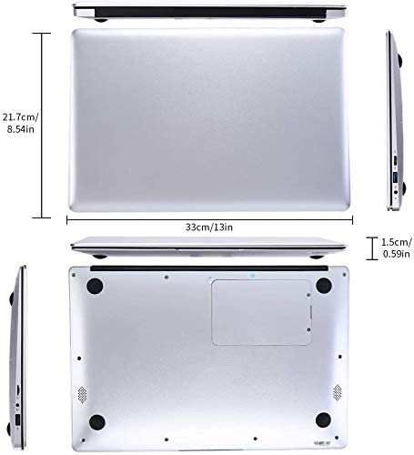 "2019 14"" Laptop - Intel Quad-Core Atom x5 E8000 Processor - 4GB Memory - 64GB Solid State Drive -2PCS 4500mAh Large Capacity Battery Endurance- Ash Silver Keyboard Frame 5"