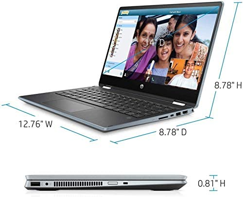 "2021 HP Pavilion x360 2in1 14"" FHD IPS Touchscreen Laptop, Intel Quad-Core i5-1035G1(Beat i7-8550U), 8GB RAM, 512GB PCIe SSD, Webcam, WiFi, HDMI, USB-A&C, Audio by B&O, Fast Charge, w/GM Accessories 4"