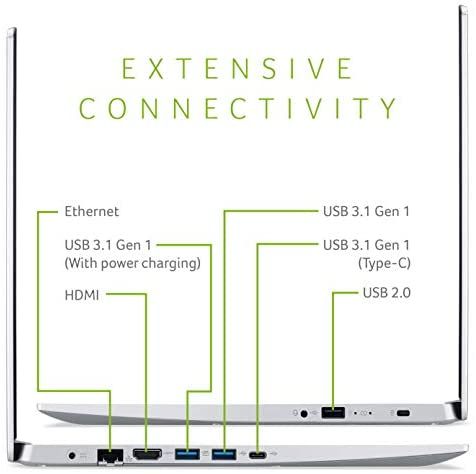 Acer Aspire 5 Slim Laptop, 15.6 Inches FHD IPS Display, 8th Gen Intel Core i5-8265U, 8GB DDR4, 256GB SSD, Fingerprint Reader, Windows 10 Home, A515-54-51DJ 4