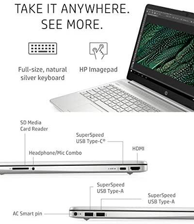 "HP 15 Laptop, 11th Gen Intel Core i5-1135G7 Processor, 8 GB RAM, 256 GB SSD Storage, 15.6"" Full HD IPS Display, Windows 10 Home, HP Fast Charge, Lightweight Design (15-dy2021nr, 2020) 6"