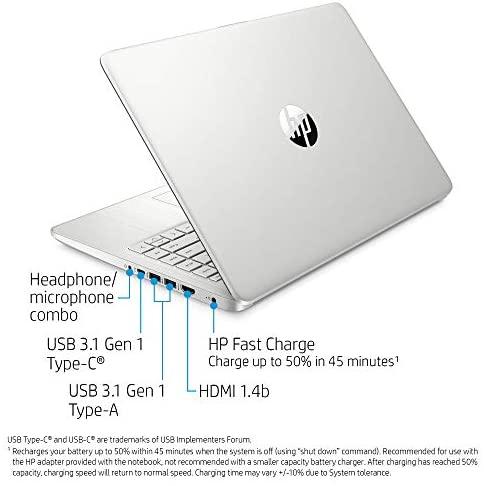 "Latest HP 14"" HD Laptop computer, Intel Core i5-1035G1, Intel UHD Graphics, 8GB SDRAM, 256GB SSD, Pure Silver, Home windows 10 5"