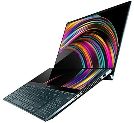 "ASUS ZenBook Pro Duo UX581 Laptop, 15.6"" 4K UHD NanoEdge Touch Display, Intel Core i9-10980HK, 32GB RAM, 1TB PCIe SSD, GeForce RTX 2060, ScreenPad Plus, Windows 10 Pro, Celestial Blue, UX581LV-XS94T 5"