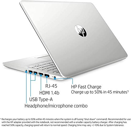 """HP 14-fq0032ms Laptop for Business and Student, 14"""" LED Touchscreen, AMD Ryzen 3 3250U Processor(up to 3.5 GHz), 8GB RAM, 128GB SSD, Webcam, WiFi, Ethernet, HDMI, USB-A&C, Win10 4"""