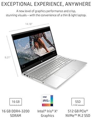 HP Pavilion 15 Laptop, 11th Gen Intel Core i7-1165G7 Processor, 16 GB RAM, 512 GB SSD Storage, Full HD IPS Micro-Edge Display, Windows 10 Pro, Compact Design, Long Battery Life (15-eg0021nr, 2020) 3