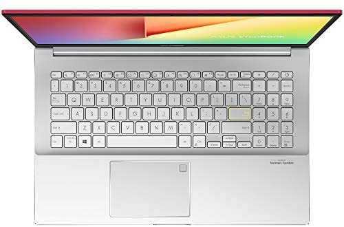 "ASUS VivoBook S15 Thin and Light Laptop, 15.6"" Full HD Screen, Intel Core i5-10210U Processor, 8GB RAM, 512GB SSD, Webcam, WiFi-6, Backlit KB, Fingerprint Reader, Win 10 Home, Red, KKE Stickers Bundle 5"