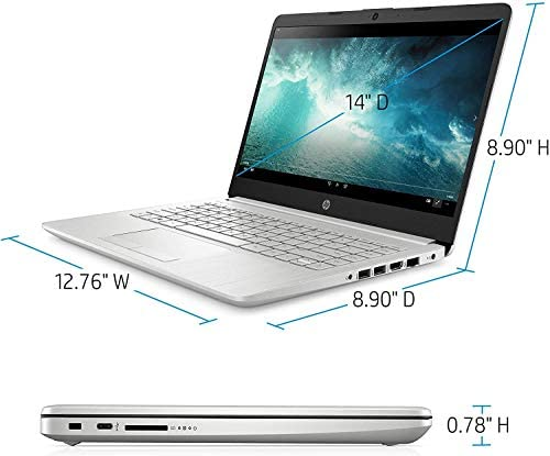 """HP 14-fq0032ms Laptop for Business and Student, 14"""" LED Touchscreen, AMD Ryzen 3 3250U Processor(up to 3.5 GHz), 8GB RAM, 128GB SSD, Webcam, WiFi, Ethernet, HDMI, USB-A&C, Win10 5"""