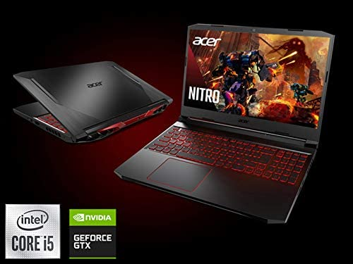 "Acer Nitro 5 Gaming Laptop, 10th Gen Intel Core i5-10300H,NVIDIA GeForce GTX 1650 Ti, 15.6"" Full HD IPS 144Hz Display, 8GB DDR4,256GB NVMe SSD,WiFi 6, DTS X Ultra,Backlit Keyboard,AN515-55-59KS 2"