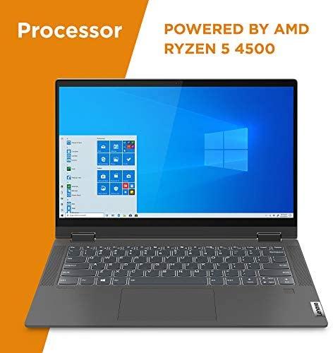 "Lenovo Flex 5 14"" 2-in-1 Laptop, 14.0"" FHD (1920 x 1080) Touch Display, AMD Ryzen 5 4500U Processor, 16GB DDR4, 256GB SSD, AMD Radeon Graphics, Digital Pen Included, Win 10, 81X20005US, Graphite Grey 3"