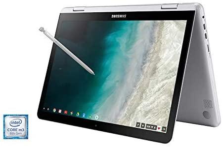 2021 Samsung Chromebook Plus V2 12.2 Inch FHD 1200P Touchscreen 2-in-1 Laptop, Intel Core m3-7Y30, 4GB RAM, 64GB eMMC, WiFi, Webcam, Chrome OS + NexiGo 32GB MicroSD Card Bundle, Pen Included 5